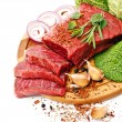 Raw fresh meat with vegetables — Stock Photo #24480311
