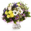 Beautiful bouquet on white background — Stock Photo