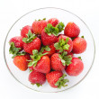 Strawberry in round plate — Stock Photo