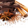Chocolate and cinnamon - Stock Photo