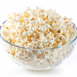 Stock Photo: Glass bowl with popcorn
