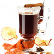 Stock Photo: Two glasses of mulled wine
