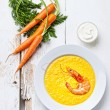 Royalty-Free Stock Photo: Carrot soup with shrimp