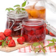 Homemade strawberry jam - Stok fotoğraf