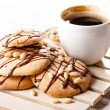 Coffee and Homemade cookies with chocolate - Stock Photo