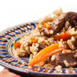Uzbek national dish plov — Stock Photo