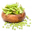 Green peas pods - Stock Photo