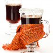 Stock Photo: Glass of mulled wine
