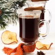 Two glasses of mulled wine - Stock Photo