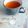 Cup of tewith teabag — Stock Photo #24482871