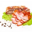 Smoked bacon hunk of fat — Stock Photo