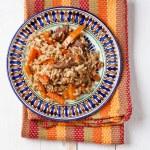 Uzbek national dish plov — Stock Photo #24483567