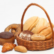 Arrangement of bread in basket - Stock Photo