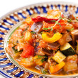 Постер, плакат: Traditional vegetable ratatouille on white background