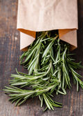 Rosemary in kraft bag — Stock Photo