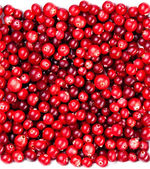 Red ripe cranberries background — Stock Photo