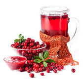Fruit drink made from cranberries — Stock Photo