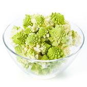 Cauliflower Romanesco in Glass bowl — Stock Photo