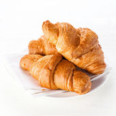 Croissants on white background — Stock Photo