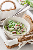 Salad with radishes and cucumbers — Stock Photo
