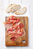 Cured Meat and bread — Stock Photo