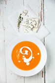 Pumpkin with blue cheese — Stock Photo