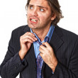 Expressive businessman in despair - Stock Photo