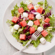 Watermelon Salad with mozzarella — Stock Photo #24531499