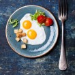 Traditional breakfast eggs — Stock Photo