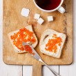 Sandwiches with red caviar — Stock Photo #30134433