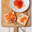 Sandwiches with red caviar — Stock Photo #30134445