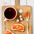 Sandwiches with red caviar — Stock Photo #30134455