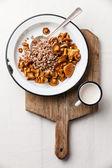 野生蘑菇荞麦粥 — 图库照片