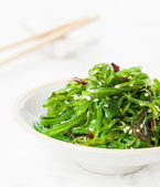 Seaweed Salad sprinkled with Sesame Seeds — Stock Photo