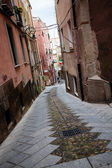 Narrow street in Old town — Stock Photo
