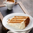 Slice of carrot cake — Stock Photo