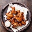 Fried Chicken Wings with sauce — Stock Photo #34348511