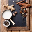 Indian masala chai Ingredients — 图库照片