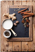 Indian masala chai Ingredients — Stock Photo