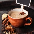 Indian masala tea and spices — Stock Photo #35172767