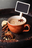 Indian masala tea and spices — Stock Photo