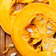 Cut a piece of ripe pumpkin — Foto de Stock