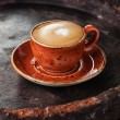 Cup of cappuccino coffee — Stockfoto