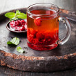 Постер, плакат: Hot tea with raspberry