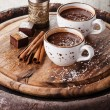 Hot chocolate sprinkled with white chocolate — Stock Photo #35853317