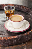 Coffee laced with brandy — Stock Photo
