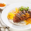 Roasted Duck Breast with orange sauce — Stock Photo
