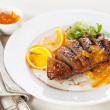 Roasted Duck Breast with orange sauce — Stock Photo #36983365