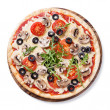 Pizza with mushrooms and ruccola — Stock Photo #37437333