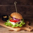 Burger with meat — Stock Photo